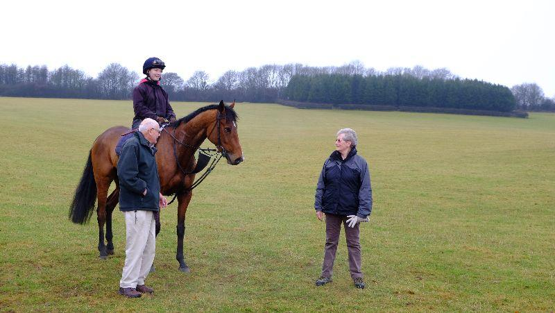 Desaray and his owners Paul and Olive Smith