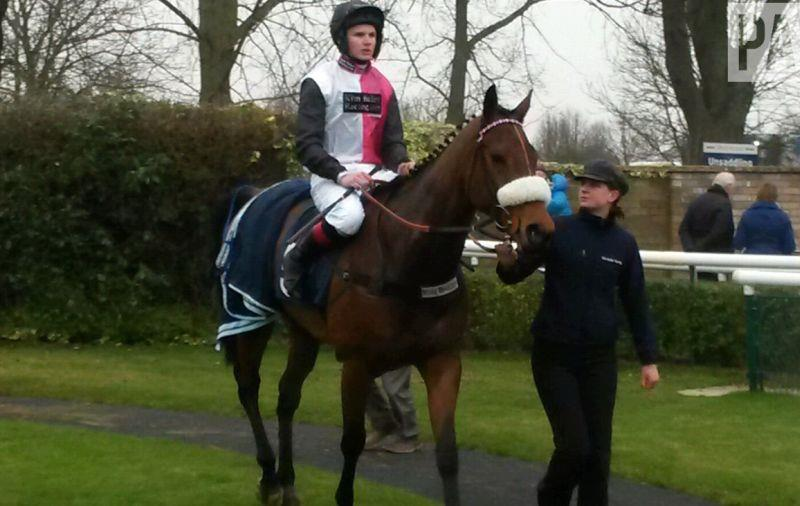 Returning with Leigh (won best turned out) to the winners enclosure
