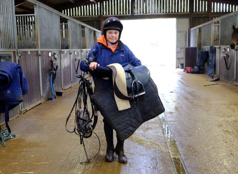 A long day for a work rider on half term?