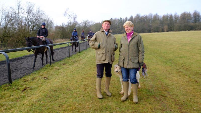 David and Karen Coombes who were here for a morning on the gallops..