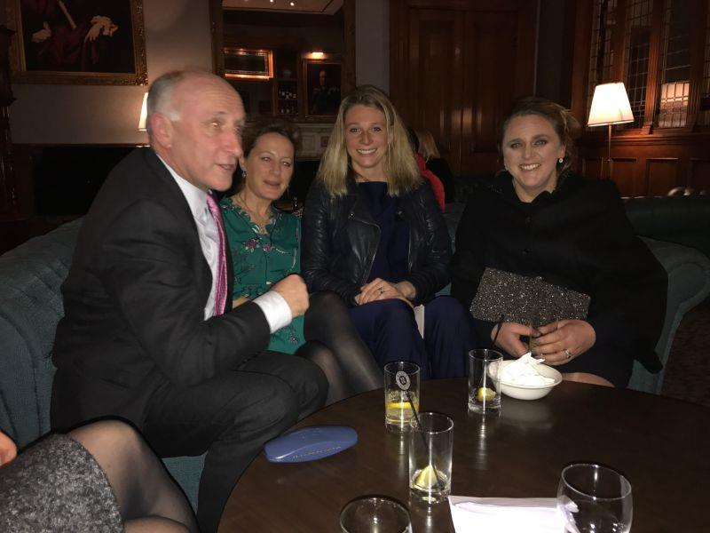 Oliver Sherwood, Clare, Sophie Longsdon and Tessa Greatrex