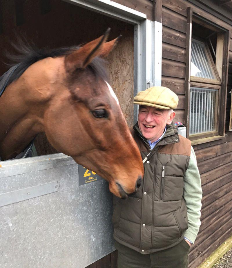 John Perriss with his new horse?. John wishes?.. Flemenshill.. the horse that made £480,000.00 at yesterdays sale..