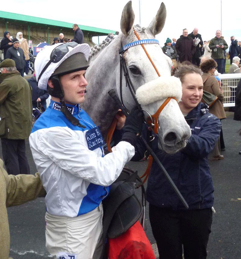 Knockanrawley with his jockey David Bass after the race.
