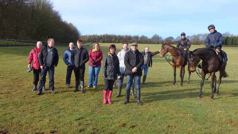 This mornings team from CD Tours.. A morning on the gallops