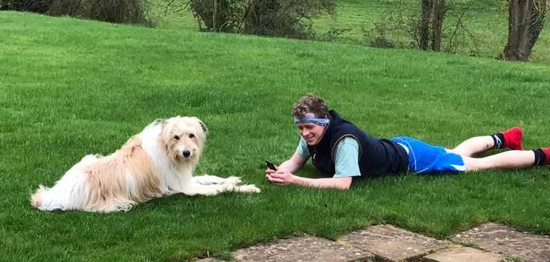 Bear and Harry Bailey after their Sunday morning run