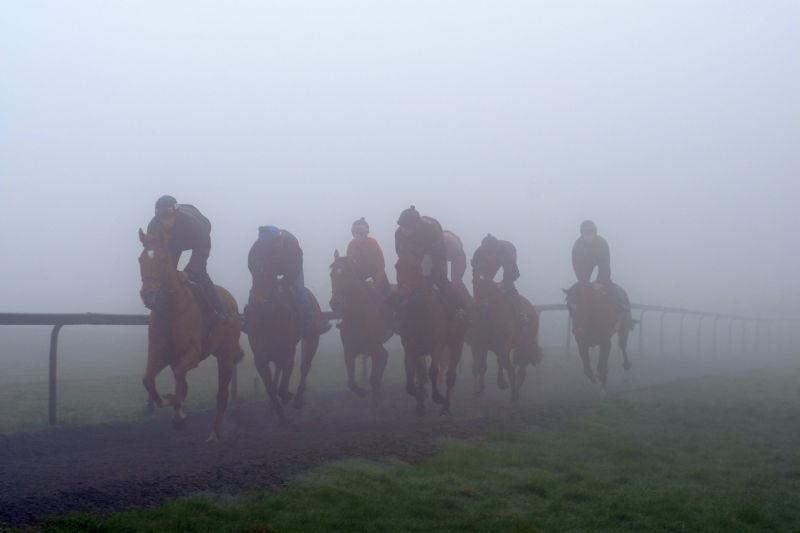 Such A Legend leading first lot in the fog