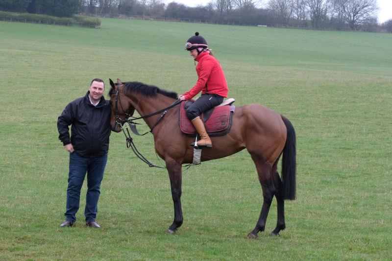 Darren Smith with his horse Monrocco