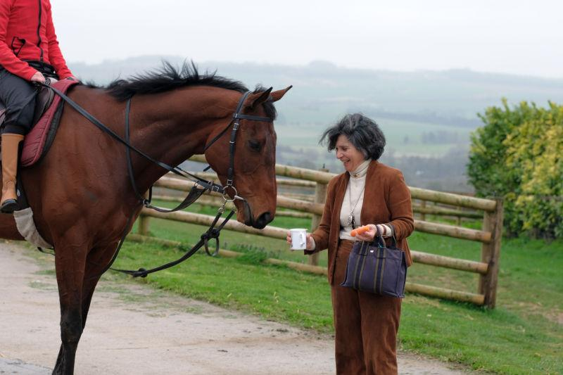 Julia Baldanza and her horse Grand March.. coffee break?