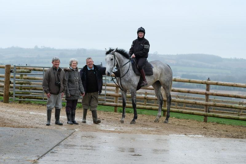 Maurice, Pim amd Roland with their horse Kayf Storm