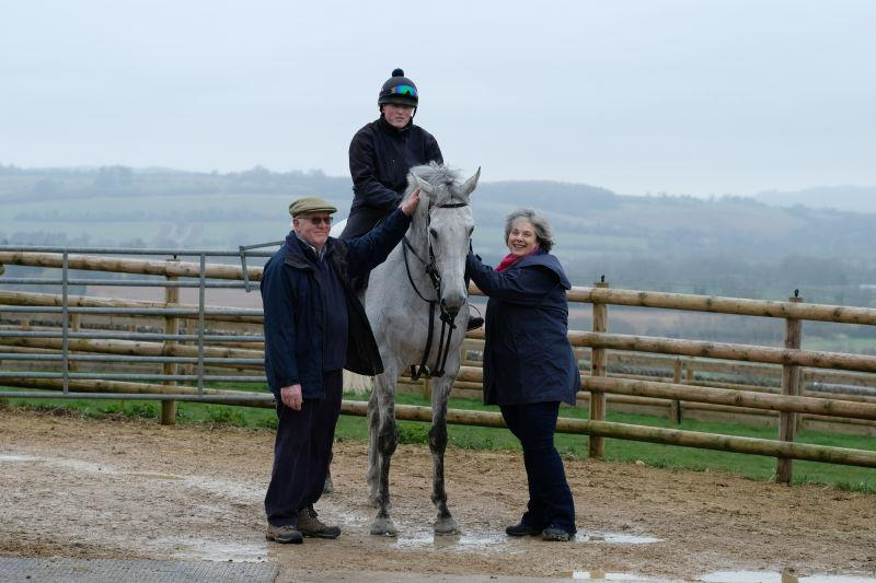 Peter and Fionna Woodhall with their horse Knockanrawley