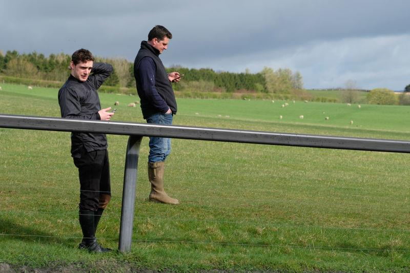 David Bass and Mat watching third lot