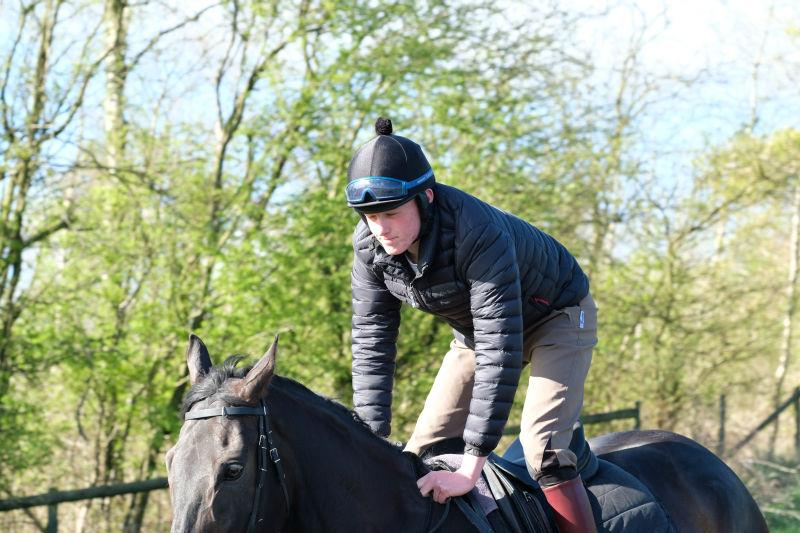 Liam Carter who has been in Newmarket all last week on a course at the Brirtish Racing School