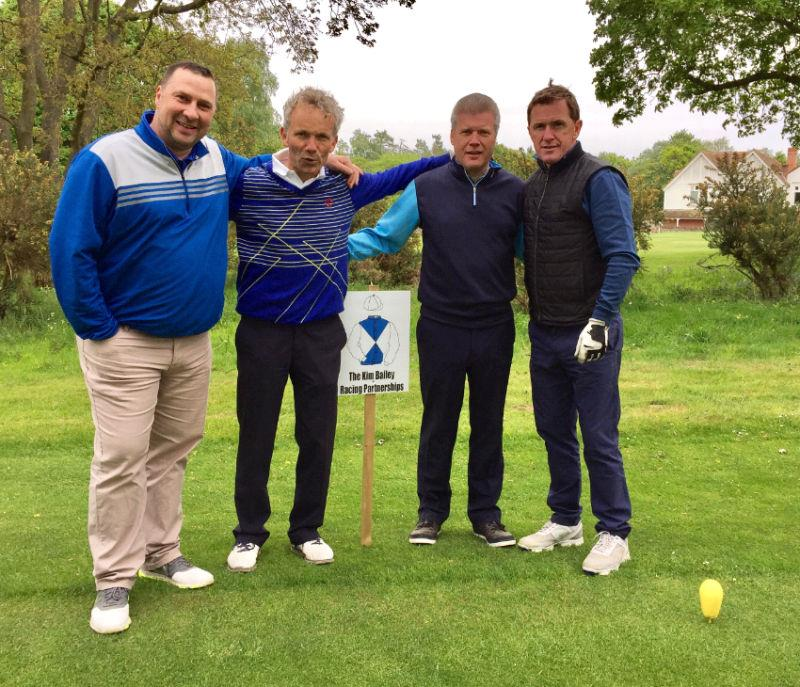 Darren, John, Mike and AP at the Kim Bailey Racing sponsored tee