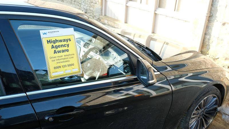 David Bass's car.. clamped and a £200 fine