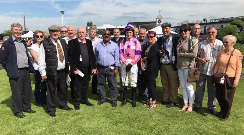 Uttoxeter yesterday..Mikey Hamill with members of Ownaracehorse.co.uk who own half of Nicely Indeed with Gary Tardi. Gary was at Fontwell