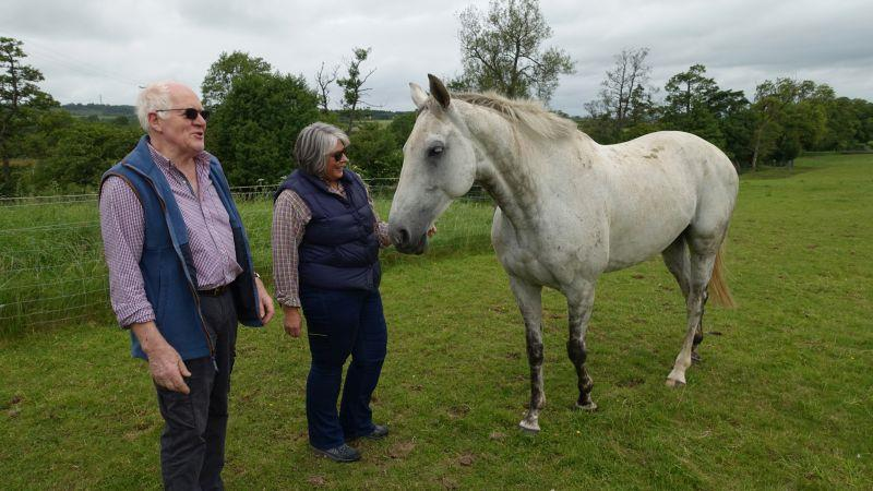 Peter and Fiona with their horse Knockanrawley