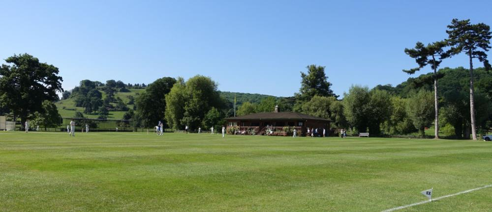 Oh to be in England..Dumbleton Cricket Club yesterday morning.