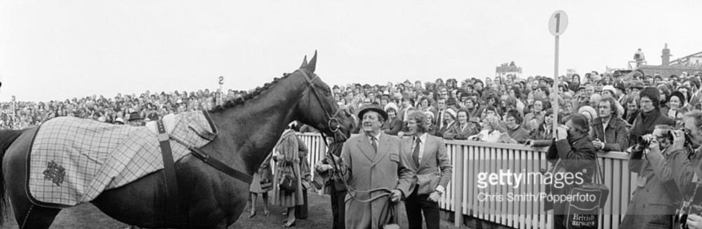 Royal Frolic after winning the 1976 Cheltenham Gold Cup..