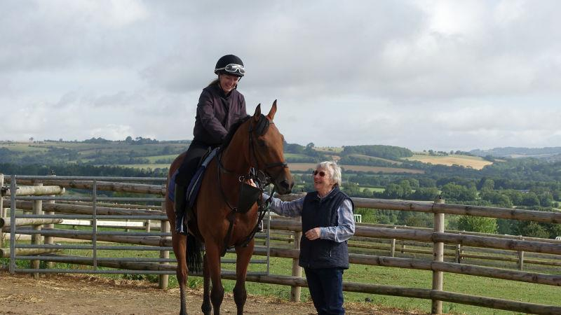 Mon Palois with his owner Elzabeth Kellar