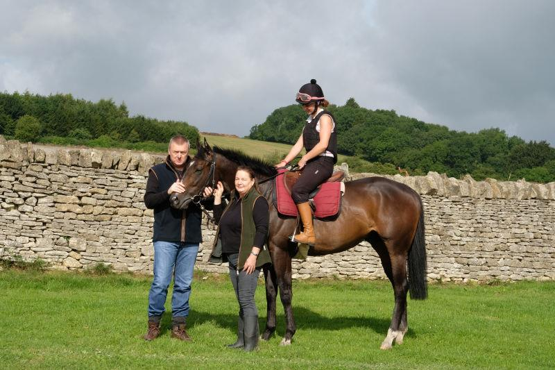 John and Mandy with their horse Involve