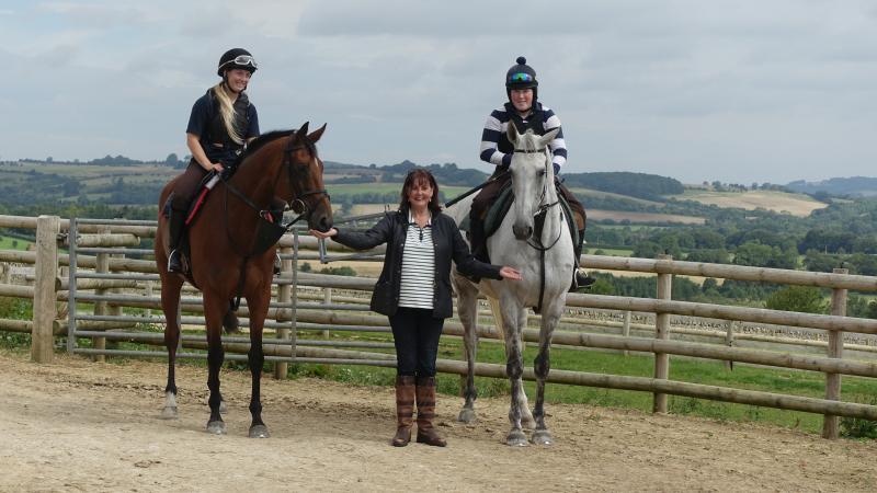 Karen Masters with Our Belle Amie and Knockanrawley