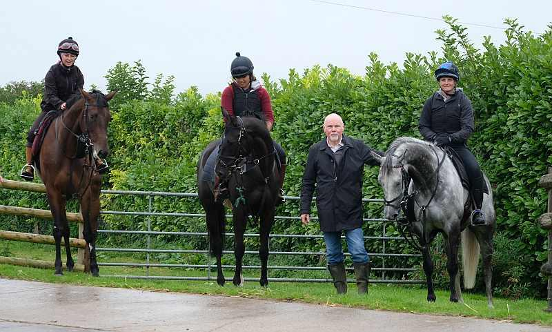 Norman with his horses Diamond Gait, Milord and Sunblazer