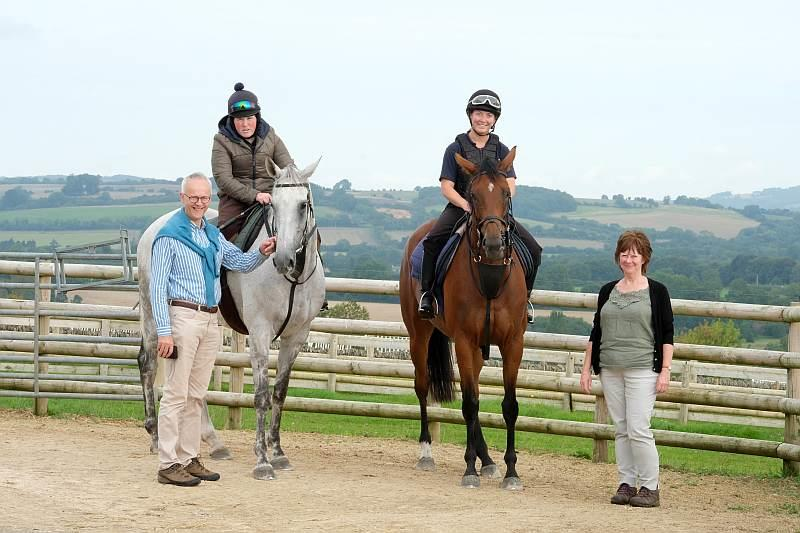 Iain and Angela with their horses Knockanrawley and Our Belle Amie