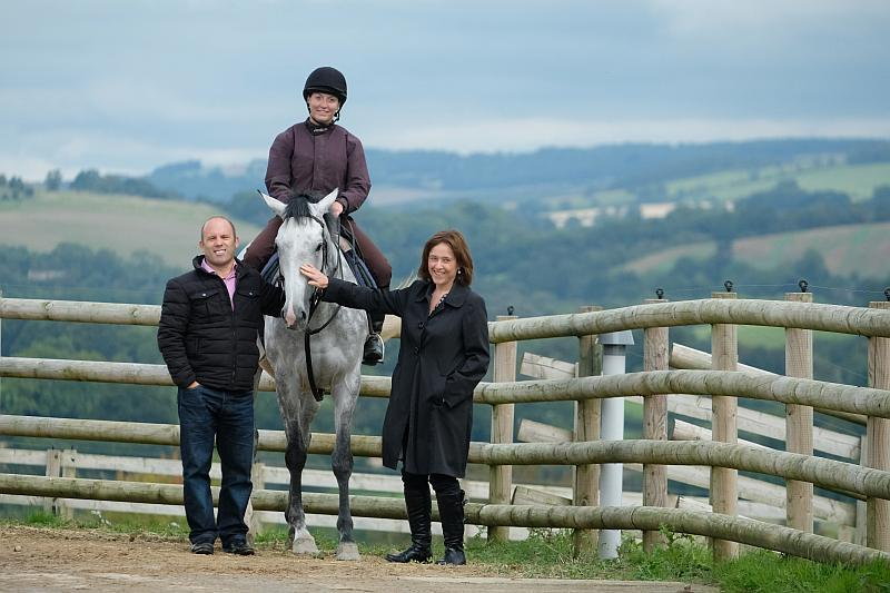 Jonathan and Lousie Herbert with their horse Kayf Storm