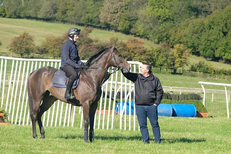Darren Smith with his horse Vinndication