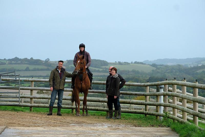 Michael, Jenny and Ian with their horse Glenforde