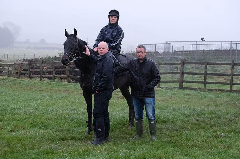 Richard Sheppard and John Webber with their horse Robin The Raven