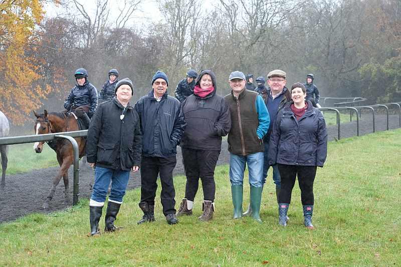 This mornings team for 'A morning on the Gallops and breakfast'