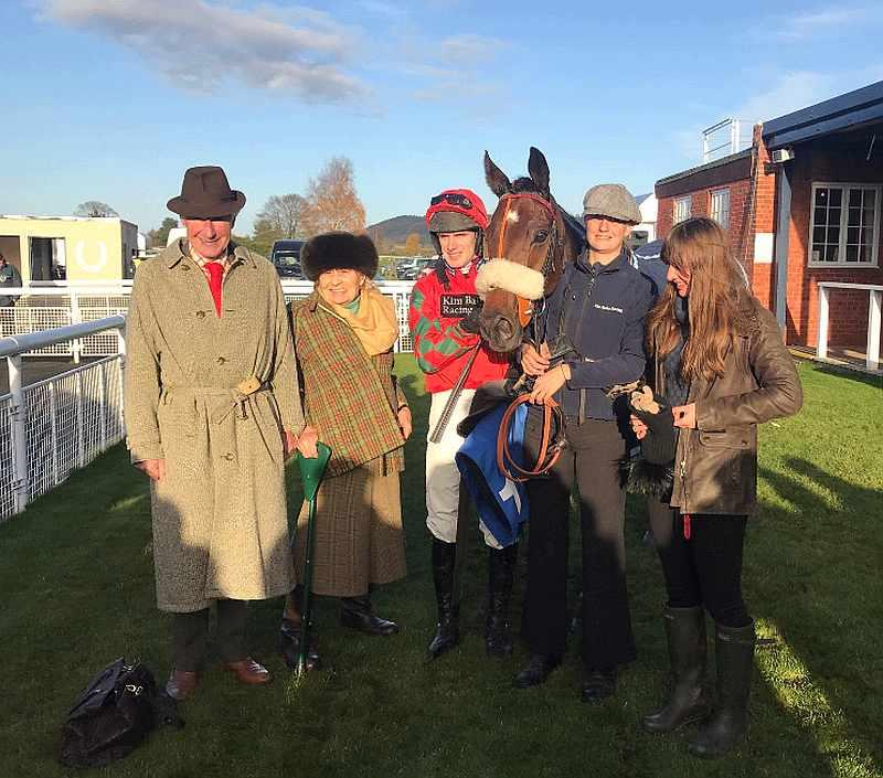 The Johnson's with their horse Cresswell Legend