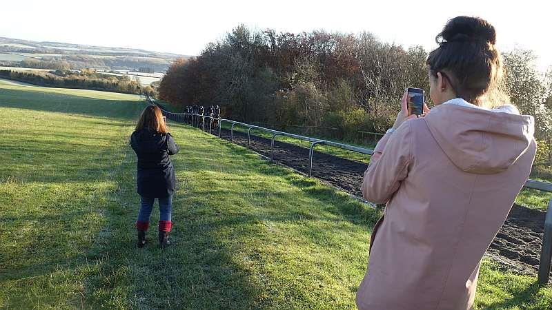 Videoing the gallops