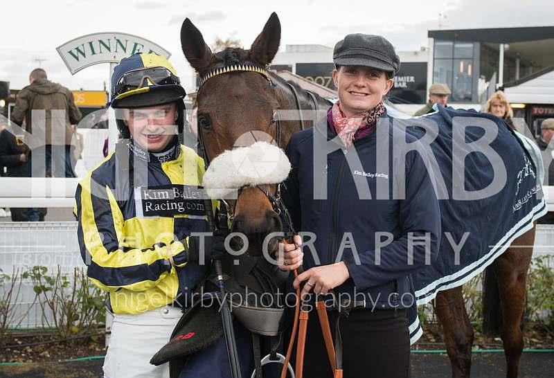 Sean Bowen and Leigh Pollard in the winners enclosure