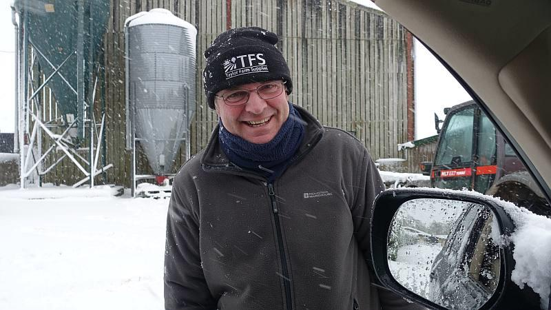 Gordon before heading down the drive with a snow plough