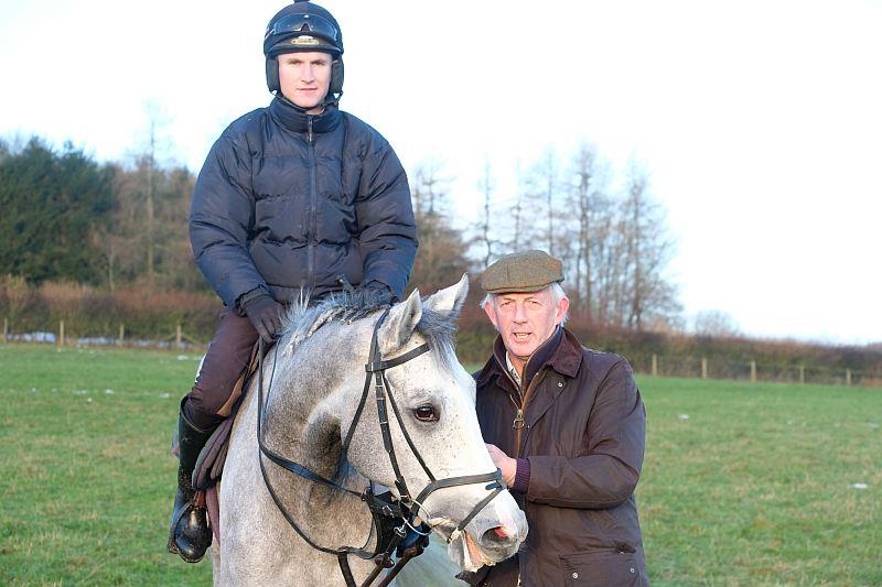 Steve Adams with his horse Silver Kayf.. Tom Bellamy riding