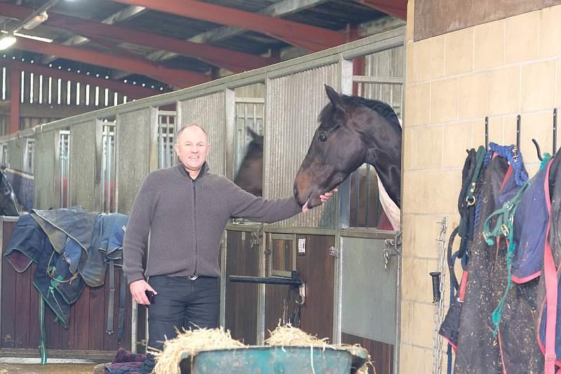 John Benson with his horse Chateau Robin