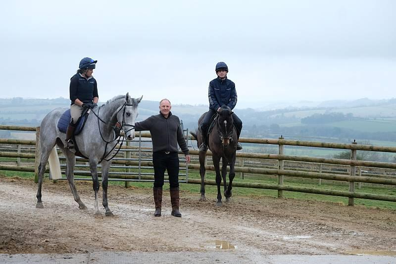 John with horses Silver Kayf and Vinndication
