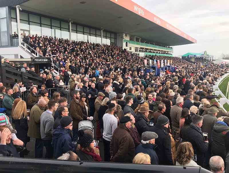 Uttoxeter was rammed yesterday