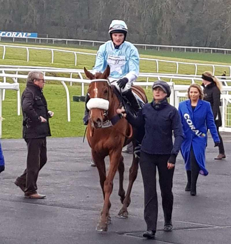 Returning to the winners enclosure