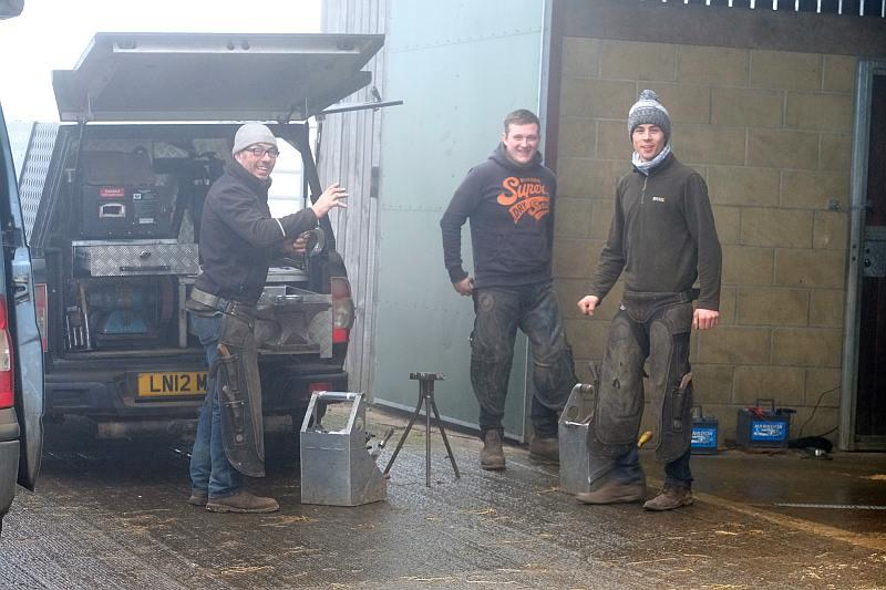 Andy Martin and his team of blacksmiths
