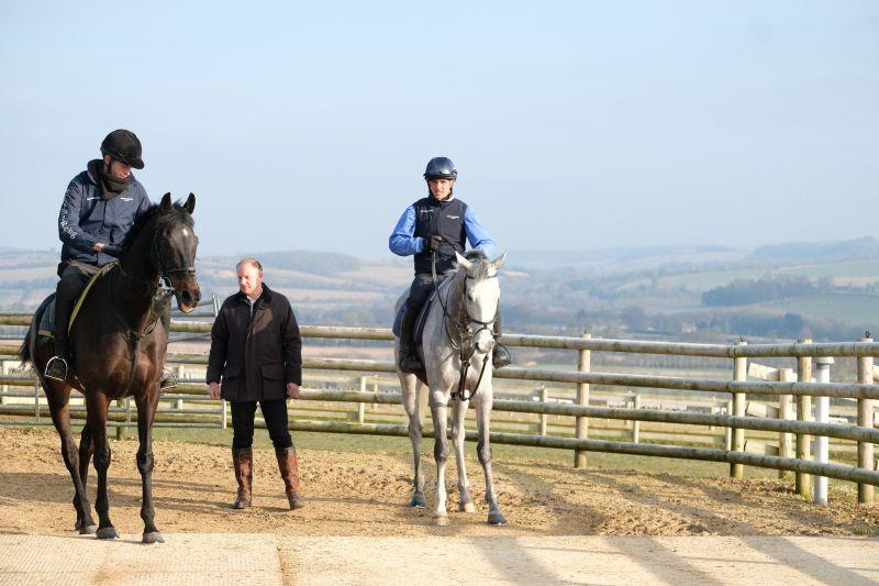 John Benson with his horses Chateau Robin and Silver Kayf