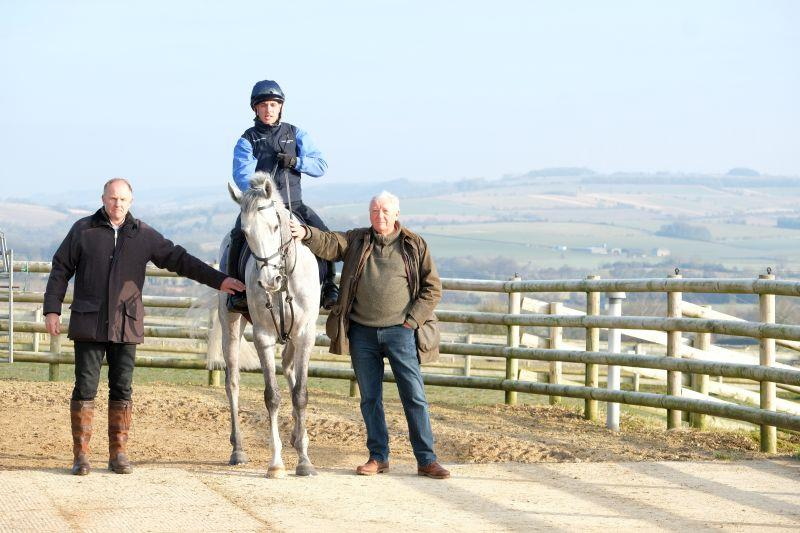 John and David with their horse Silver Kayf