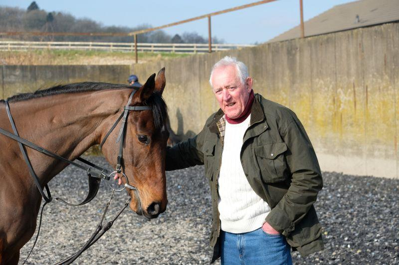 Geoffrey Williams with his horse by Beneficial