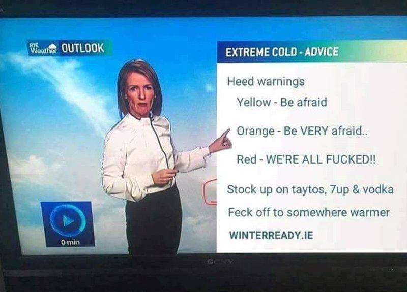 The Irish way of forecasting the weather..