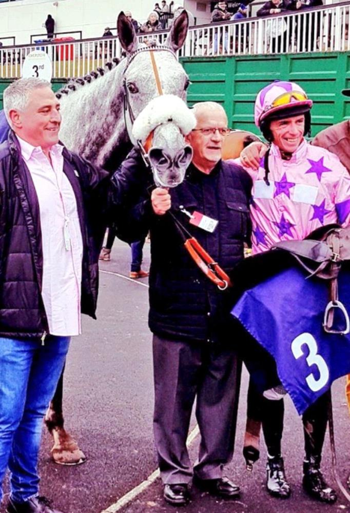 Gary, Steve and David Crosse after Kilfilum Cross's win