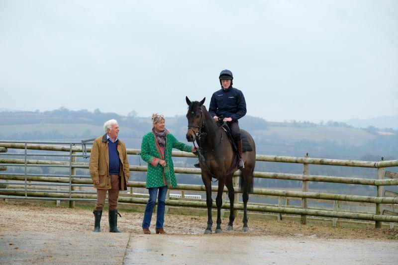 Peter and Moo with their 4 year old Arakan gelding..