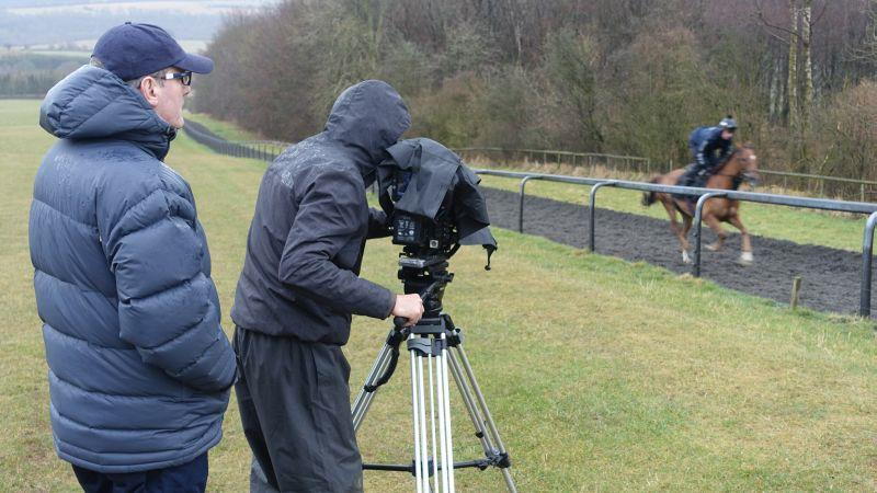 Phil Clark from Racing UK filming The Last Samuri