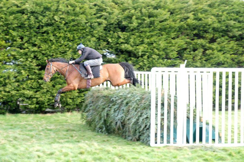 Guy Disney jumping the national fences on his own